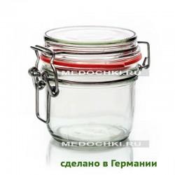 белая прокладка 200-220 мл стеклянная банка с замком