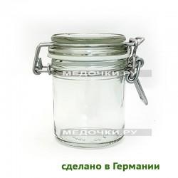150 мл белая прокладка стеклянная банка с замком